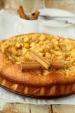 Empanada y cinamomo hechos en casa de manzana Imágenes de archivo libres de regalías
