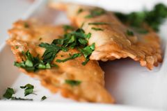 Empanadas. Group of Latin american empanadas Royalty Free Stock Photography