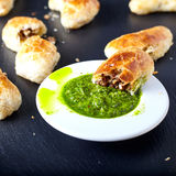 Empanadas - Argentine roasted meat pies Royalty Free Stock Photography