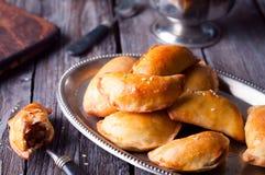 Empanadas bourré fait maison Photos libres de droits