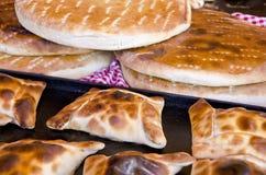 Empanadas cileno e tortiglii orizzontali fotografia stock