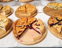 Empanadas con diversos rellenos Imagen de archivo libre de regalías