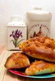 Empanadas de manzana hechas en casa frescas Imagen de archivo