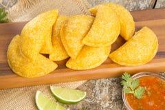 Empanadas deliciosos - cocina colombiana Fotos de archivo