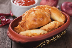 Empanadas, Latin American mini pie Stock Photos