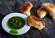 Empanadas a rempli de la viande images stock