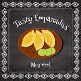 Empanadas savoureux illustration de vecteur