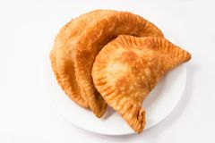 Empanadas on white Stock Image