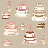 Empanadas y tortas Foto de archivo libre de regalías