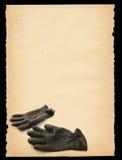 Empapele con adorno de los guantes Imagen de archivo