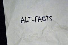 Empapele con los Alt-hechos de las palabras imagenes de archivo