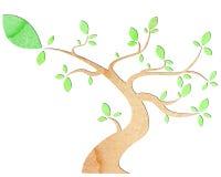 Empapele el árbol Imágenes de archivo libres de regalías