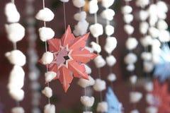 Empapele el copo de nieve Fotografía de archivo libre de regalías