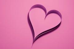 Empapele el corazón Fotos de archivo libres de regalías