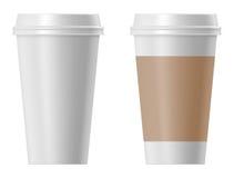 Empapele la taza de café Foto de archivo libre de regalías