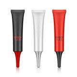 Empaquetado cosmético, plástico, tubo de la boca Imagen de archivo libre de regalías