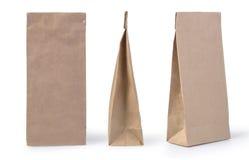 Empaquetado de la bolsa de papel de Brown Imagen de archivo libre de regalías