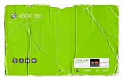 Empaquetado de la cartulina del verde de Xbox 360 foto de archivo