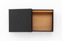 Empaquetado del producto de Black Box Fotos de archivo libres de regalías