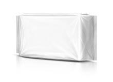 Empaquetado en blanco de la bolsa plástica Fotografía de archivo