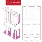 Empaquetado para la botella de la poder o Ejemplo del vector de la caja stock de ilustración