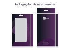 Empaquetado para los accesorios del teléfono celular Imagen de archivo libre de regalías