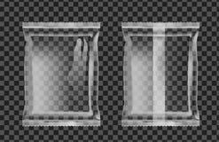 Empaquetado transparente del vacío para los bocados, la comida, los microprocesadores, el azúcar y las especias libre illustration