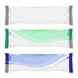 Empaquetage blanc blanc de clinquant. préparez pour votre conception Image libre de droits
