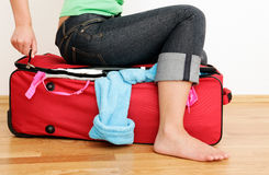 Empaquete el equipaje del paquete Fotografía de archivo libre de regalías