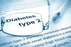 Empaquetez avec le type de diabète de mots - 2 Image libre de droits