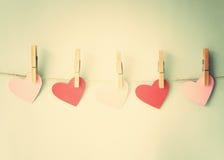 Empaquetez les coeurs Image libre de droits