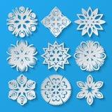 Empaquetez les flocons de neige Ensemble 3 Illustration Stock
