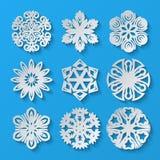 Empaquetez les flocons de neige Ensemble 1 Illustration Libre de Droits