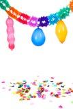 Empaquetez les guirlandes et les confettis Image stock