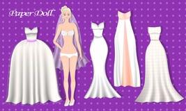 Empaquetez les poupées Jeune mariée de robe illustration de vecteur