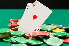 Emparéjese de microprocesadores de los as y del casino de OOF foto de archivo libre de regalías