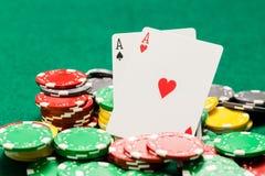 Emparéjese de microprocesadores de los as y del casino de OOF imagen de archivo libre de regalías