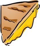 Emparedado asado a la parilla del queso ilustración del vector