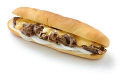 Emparedado de filete del queso de Philly Imagenes de archivo