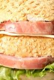 Emparedado de jamón Imagenes de archivo