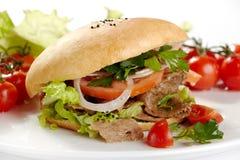 Emparedado de Kebab Foto de archivo libre de regalías