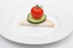 Emparedado de la comida de la dieta Imágenes de archivo libres de regalías