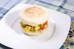 Emparedado de la ensalada del queso de soja del vegano Imagen de archivo libre de regalías