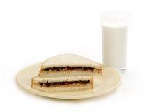 Emparedado de la manteca de cacahuete y de la jalea Fotografía de archivo