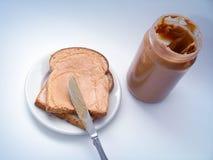 Emparedado de la mantequilla de cacahuete fotos de archivo
