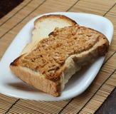Emparedado de la mantequilla de cacahuete imágenes de archivo libres de regalías