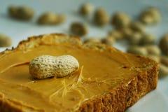 Emparedado de la mantequilla de cacahuete Fotos de archivo libres de regalías