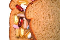 Emparedado de la vitamina Imagen de archivo libre de regalías