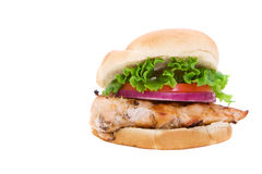 Emparedado de pollo fotos de archivo