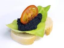 Emparedado del caviar Imágenes de archivo libres de regalías